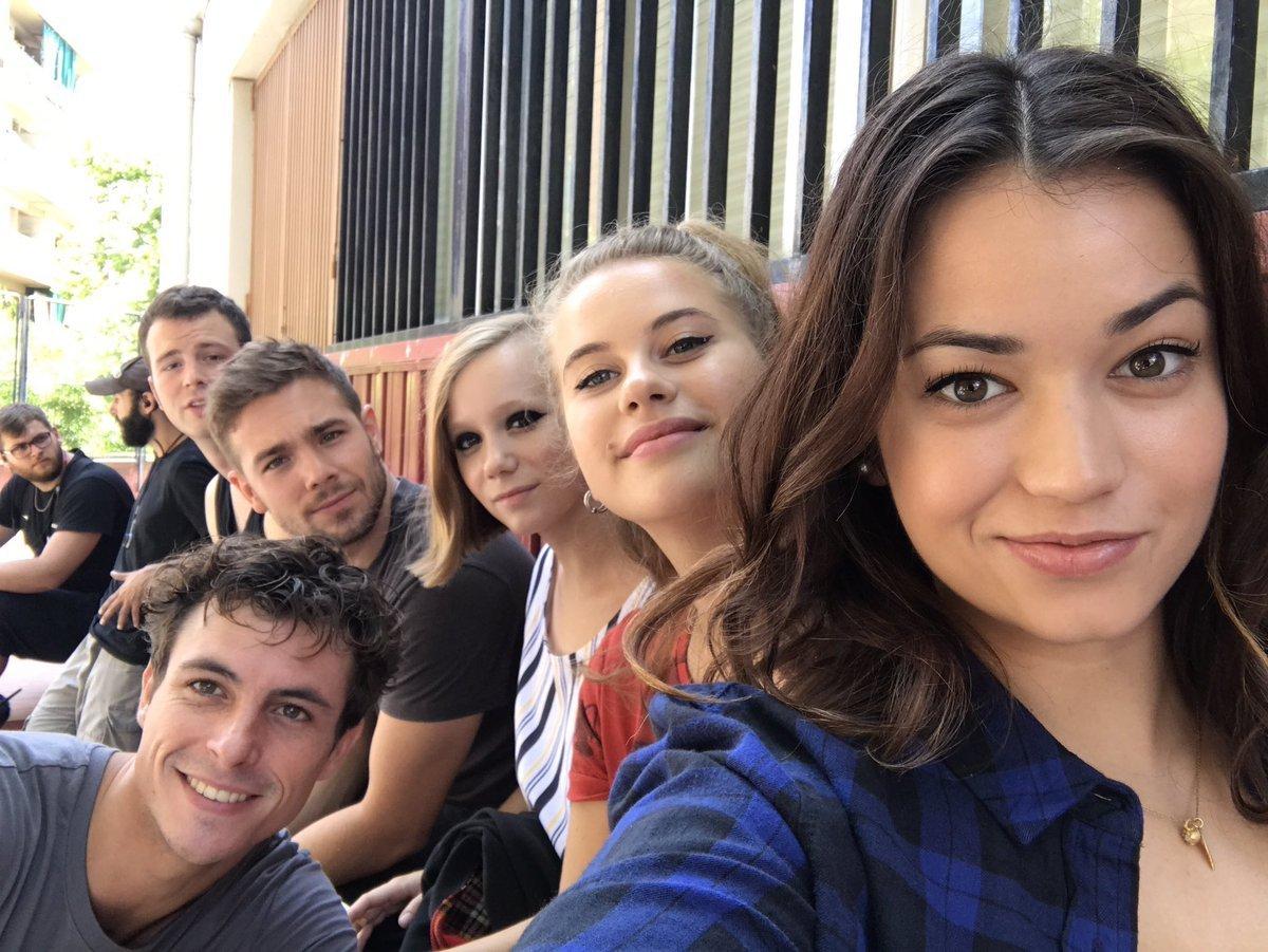 Selfie dos alunos de Merlí no fim da terceira temporada. A foto é da atriz Julia Creus (primeiro plano)