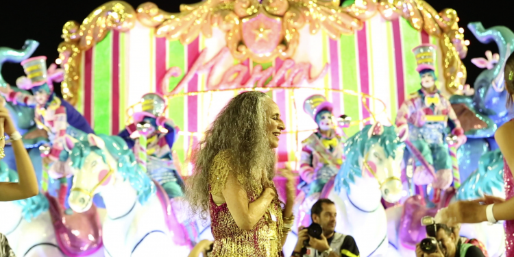 Maria Bethânia em uma das imagens de 'Fevereiros', documentário em sua homenagem. Foto: Globo Filmes