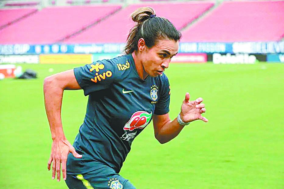 Marta, meia-atacante da seleção feminina de futebol. FOTO: LAURA ZAGO/CBF
