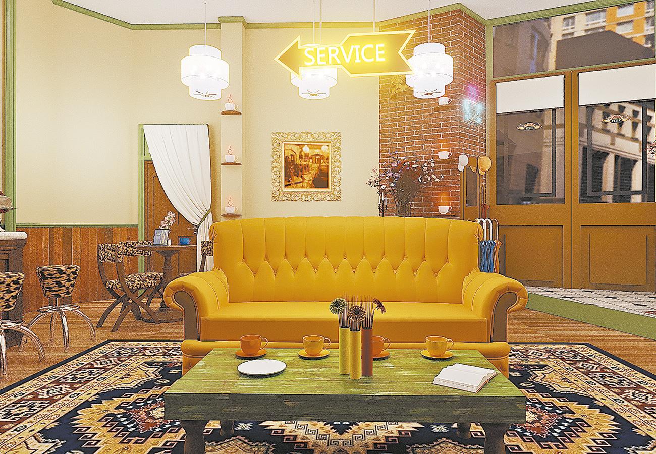 Central Perk na casa da Warner que mostrará ambientes de 'Friends' (e outras séries de sucesso). Foto: Warner/Divulgação