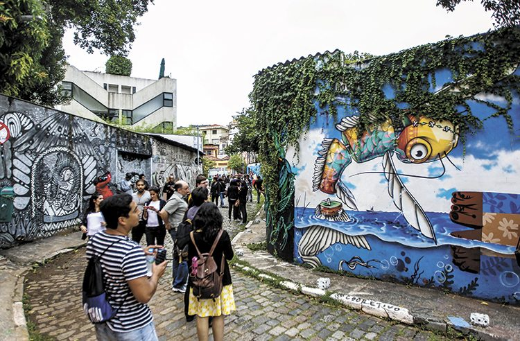 Beco do Batman. Foto: RAFAEL ARBEX/ESTADÃO