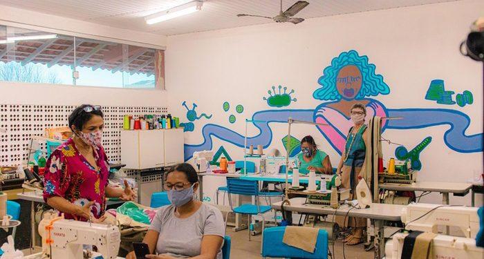 Oficina Costuraê em Guaimá, Belém. Foto: João Urubu/DaTribu